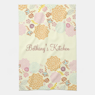 Feminine Fancy Modern Floral Kitchen Towel