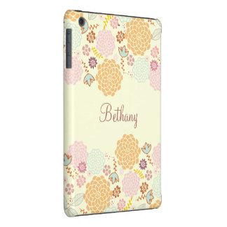 Feminine Fancy Modern Floral Personalized iPad Mini Case