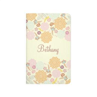 Feminine Fancy Modern Floral Personalized Journal