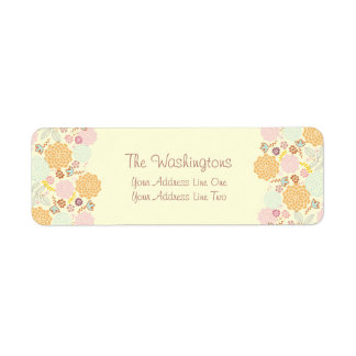Feminine Fancy Modern Floral Personalized Label