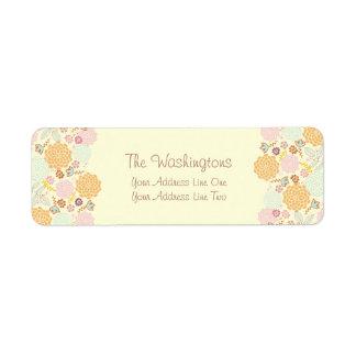 Feminine Fancy Modern Floral Personalized Label
