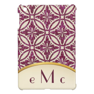 Feminine Floral Geometric Monogram Cover For The iPad Mini