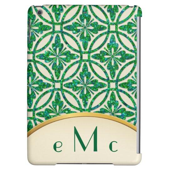 Feminine Floral Geometric Monogram iPad Air Cases