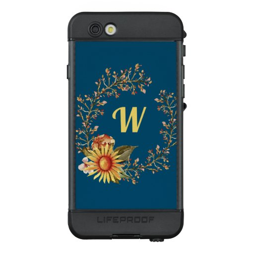 Feminine Floral Yellow Sunflower Wreath LifeProof NÜÜD iPhone 6s Case
