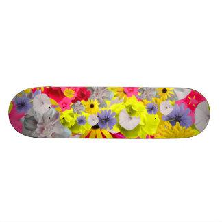 Feminine Flowers In Beautiful Blooming Colors Skateboard