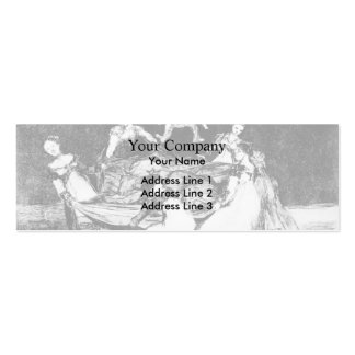 Feminine Folly by Francisco Goya Double-Sided Mini Business Cards (Pack Of 20)