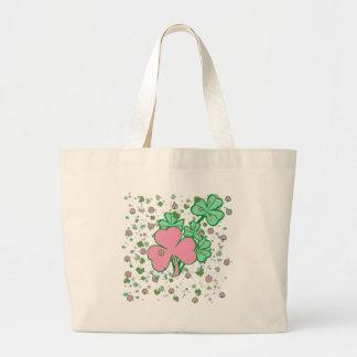 Feminine for St Patricks Day Tote Bags