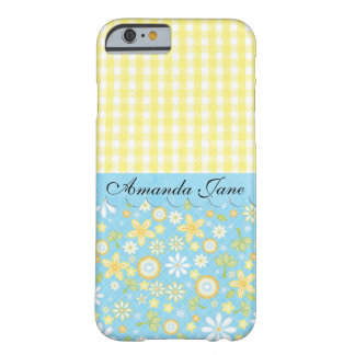 Feminine Gingham and Flowers iPhone 6 Case