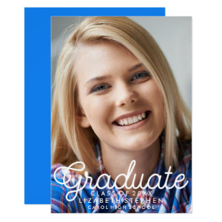 Feminine Graduation Photo Cute Announcement