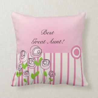 Feminine Great Aunt Pillow Best Great Aunt