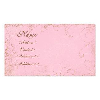 Feminine Grungy, swirl  Pink Business Business Card Template