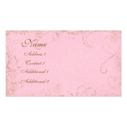 Feminine grungy swirl pink business business card zazzle for Feminine business cards