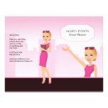 Feminine Illustrated Flyer - Unfolded (You fold it