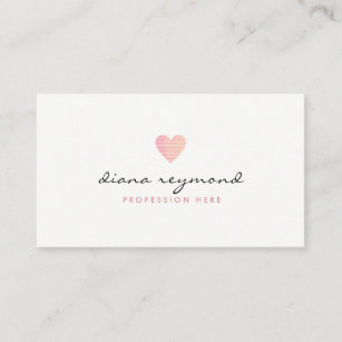 Women business cards templates zazzle feminine love pink heart professional women business card colourmoves