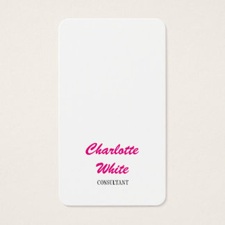 Feminine Minimalist Script Creative Simple Plain Business Card