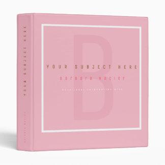 feminine multi-functional pink 3 ring binder