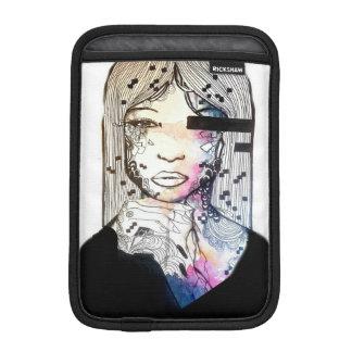 Feminine, nebula cosmic watercolor girl art sleeve for iPad mini