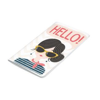 "Feminine note block ""Hello! "" Journal"
