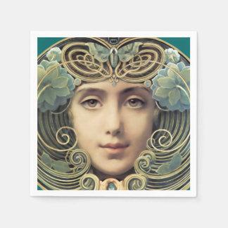 Feminine Nouveau Vintage Beauty Napkin