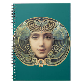Feminine Nouveau Vintage Beauty Notebook