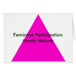 Feminine Participation Mystic Nature The MUSEUM Card