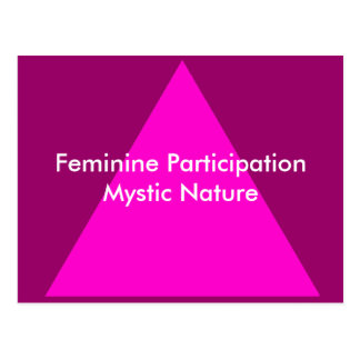 Feminine Participation Mystic Nature The MUSEUM Postcard