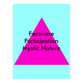 Feminine Participation Mystic Nature The MUSEUM Postcard