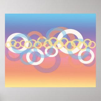 Feminine pastel graphic design poster