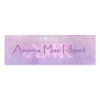 Feminine Pastel Purple Pink Cloud Skinny Cards