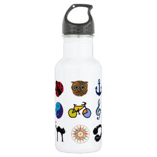 feminine pattern design water bottle