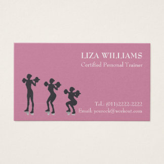 Feminine Personal Trainer Business Cards