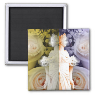 Feminine photography of statue 2 inch square magnet
