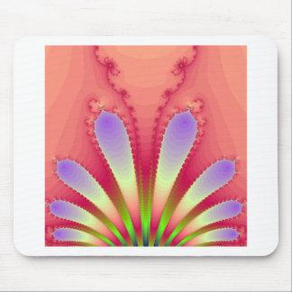 Feminine Pink Burst Fractal Design Gear Mouse Pad
