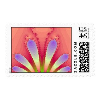 Feminine Pink Burst Fractal Design Gear Stamp