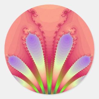 Feminine Pink Burst Fractal Design Gear Stickers