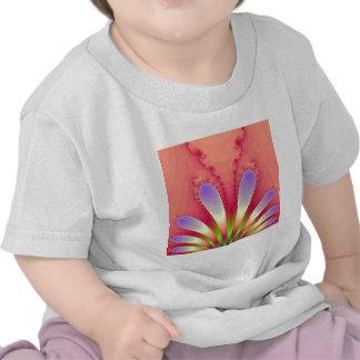 Feminine Pink Burst Fractal Design Gear T Shirts