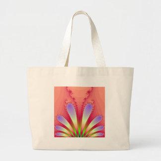 Feminine Pink Burst Fractal Design Gear Tote Bags