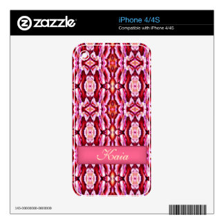 feminine pink lace frilly fancy girly girl woman decals for the iPhone 4S