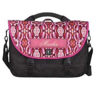 Feminine Pink Lace Pattern Laptop Computer Bag