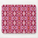 Feminine Pink Lace Pattern Mouse Pad
