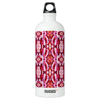 Feminine Pink Lace Pattern Water Bottle