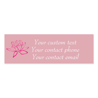 Feminine pink skinny personal contact cards