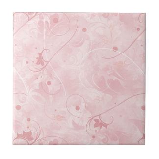 Feminine, Pink, Subtle, Pale, Soft Pink, Girly Ceramic Tile