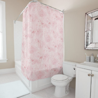 Feminine  Pink  Subtle  Pale  Soft Pink  Girly Shower CurtainSoft Pink Shower Curtains   Zazzle. Pale Pink Shower Curtain. Home Design Ideas