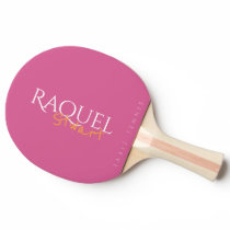 feminine pink table_tennis signature ping pong paddle