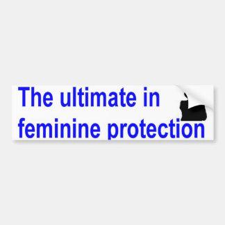 feminine protection car bumper sticker