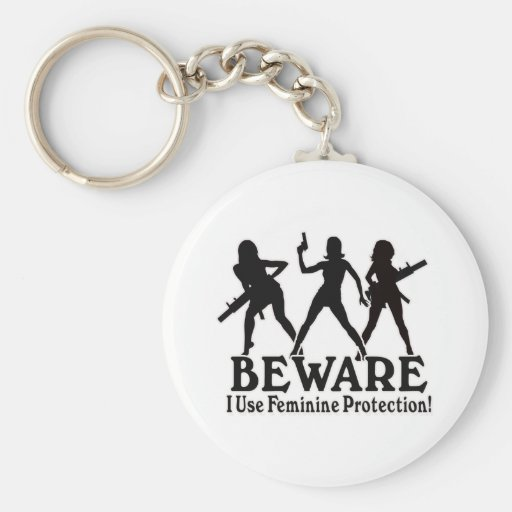 Feminine Protection - Girls with GUNS Key Chains