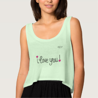 Feminine regatta Crop Flowy, A&J I love you Tank Top