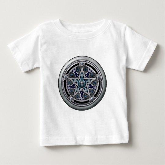 Feminine Silver Pagan Pentacle Baby T-Shirt