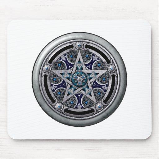 Feminine Silver Pagan Pentacle Mouse Pad